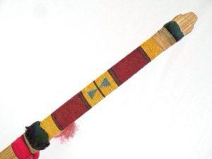 JB D Porcupine quill plaited pipe stem